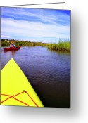 Sea Kayak Greeting Cards - Bloody Marsh St Simons Island Greeting Card by Thomas R Fletcher