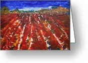 Photographs Painting Greeting Cards - Bloody pesticides Greeting Card by Julie Lueders