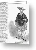 Bloomer Greeting Cards - Bloomer Costume, 1851 Greeting Card by Granger