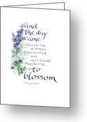 Growth Greeting Cards - Blossom I Greeting Card by Judy Dodds