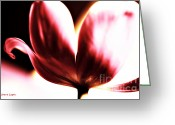 Flower Cards Greeting Cards - Blowing Kisses Tulip Greeting Card by Jayne Logan