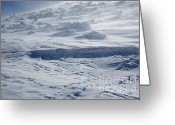 Mountain Summit Greeting Cards - Blowing Snow - White Mountains NH Greeting Card by Erin Paul Donovan