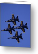 F-18 Greeting Cards - Blue Angels Greeting Card by Bill Gallagher