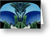 Tree Lines Greeting Cards - Blue Arches Greeting Card by Paul W Faust -  Impressions of Light