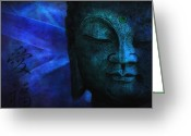 Philosophy Greeting Cards - Blue Balance Greeting Card by Joachim G Pinkawa
