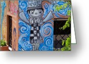 Jack-in-the-box Greeting Cards - Blue Boy Greeting Card by Peggy Zachariou
