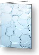 Tom Biegalski Greeting Cards - Blue Bubbles Greeting Card by Tom Biegalski