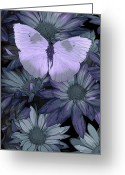 Feminine Greeting Cards - Blue Butterfly Greeting Card by JQ Licensing
