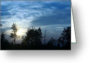 "\""sunset Photography Prints\\\"" Greeting Cards - Blue Canvas Sky 03 Greeting Card by Aimelle"