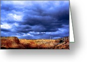 Sunset Posters Greeting Cards - Blue Canyon Greeting Card by Kimberly Nickoson