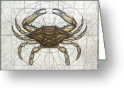 Sharp Claws Greeting Cards - Blue Crab Greeting Card by Charles Harden