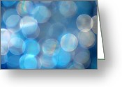 Shimmer Greeting Cards - Blue Greeting Card by Darren Fisher