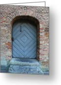 Old Doors Greeting Cards - Blue Door Greeting Card by Carol Groenen