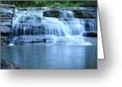 Swimming Hole Greeting Cards - Blue Falls Greeting Card by Melissa Petrey