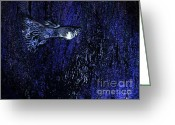 Fantasy Greeting Cards - Blue Fish Art Greeting Card by Mario  Perez