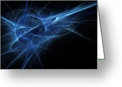 Electricity Greeting Cards - Blue Flame Greeting Card by Scott Norris