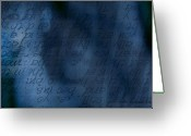 Gentle Touch Photo Greeting Cards - Blue Glimpse Greeting Card by Vicki Ferrari