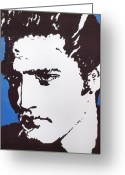 Silhouettes Of Famous People Greeting Cards - Blue Hawaii Greeting Card by Robert Margetts