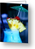 Bleu Greeting Cards - Blue Hawaiian Greeting Card by Karon Melillo DeVega