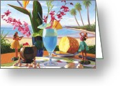 Cocktail Greeting Cards - Blue Hawaiian Greeting Card by Steve Simon
