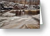 Hen Greeting Cards - Blue Hen Falls Cascade Greeting Card by Jennifer Grover
