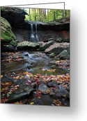 Cuyahoga Greeting Cards - Blue Hen Falls II Greeting Card by Dale Kincaid