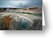 Idaho Greeting Cards - Blue Hole Greeting Card by KH Graphic