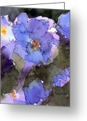 Purple Garden Greeting Cards - Blue Hyacinth Greeting Card by Anne Duke