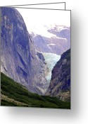 Skagway Greeting Cards - Blue Ice near Skagway Alaska Greeting Card by Mindy Newman