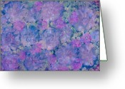 Loose Panicles Greeting Cards - Blue Iridescent Greeting Card by Don  Wright