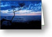 Big Island Greeting Cards - Blue Kona Greeting Card by Kelly Wade