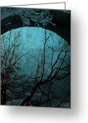 Trees Framed Prints Greeting Cards - Blue Lagoon  Greeting Card by Jerry Cordeiro