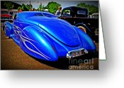 Chrome Grill Greeting Cards - Blue Love Greeting Card by Perry Webster