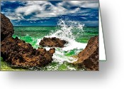 Christopher Holmes Photography Greeting Cards - Blue Meets Green Greeting Card by Christopher Holmes