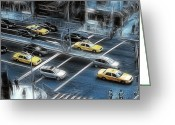 New York City Police Greeting Cards - Blue Monday Greeting Card by Joachim G Pinkawa