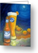 Blue Moon Greeting Cards - Blue Moon I Greeting Card by Craig Wade