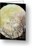 Arne J Hansen Greeting Cards - Blue Moon Rising Greeting Card by Arne Hansen