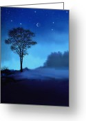 Blue Moon Greeting Cards - Blue Moon Greeting Card by Robert Foster
