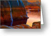 Watson Lake Greeting Cards - Blue Moon Greeting Card by Robert Hooper
