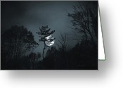 Blue Moon Greeting Cards - Blue Moon Greeting Card by Terence Davis