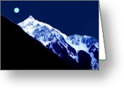 Blue Moon Greeting Cards - Blue Moon Greeting Card by Will Borden