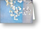 Pretty Flowers Greeting Cards - Blue Morning Greeting Card by Lyn Randle