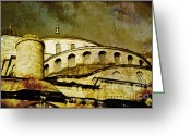 Marmara Greeting Cards - Blue Mosque Greeting Card by Dariusz Gudowicz