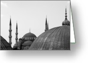 Turkey Greeting Cards - Blue Mosque, Istanbul Greeting Card by Dave Lansley