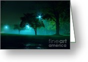 Nightlight Greeting Cards - Blue Night Greeting Card by Jk Images