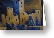 Mesa Verde Greeting Cards - Blue Palace Greeting Card by Jerry McElroy
