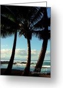 Wiles Greeting Cards - Blue Palms Greeting Card by Karen Wiles