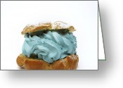 Filled Greeting Cards - Blue pastry Greeting Card by Bernard Jaubert