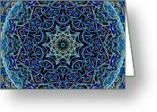 Math Greeting Cards - Blue Planet Greeting Card by Ron Brown