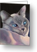 Kitty Greeting Cards - Blue Point Siamese Greeting Card by Susan A Becker